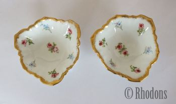 Pair Of Early 1900s Limoges Trinket Dishes, Pin Dishes, Ring Dishes