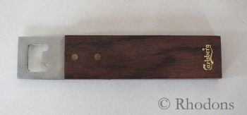 Crown Cork Bottle Opener, Teak Handle, Carlsberg Lager Advertising. Circa 1970/80s