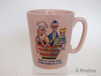 Keele Street Pottery Childs Mug, Rub A Dub Dub Three Men In A Tub