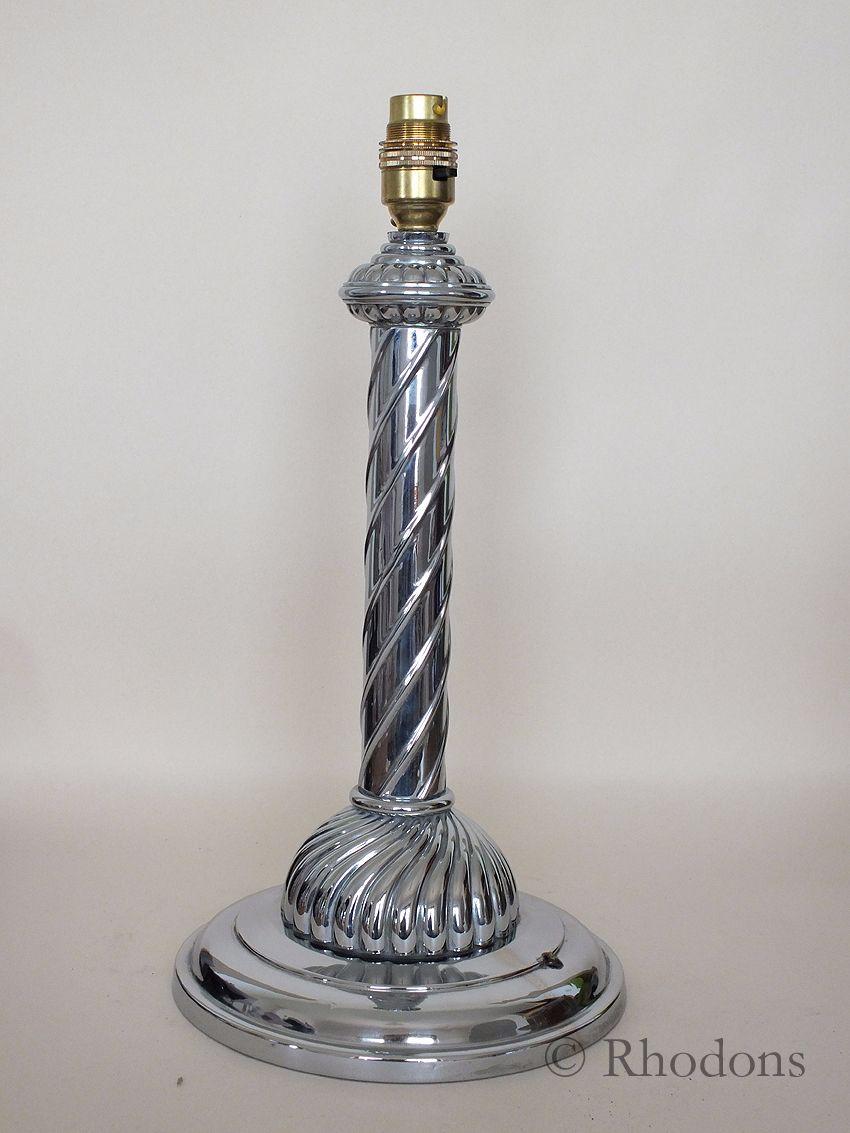 Chrome Plated Table Lamp Base, Circa 1930s