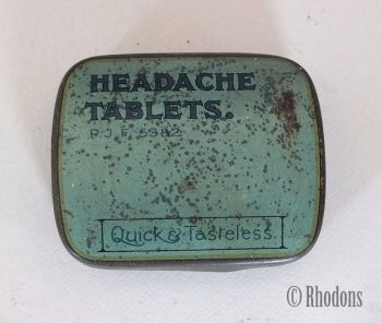 Vintage Pharmaceutical Tablets Tin