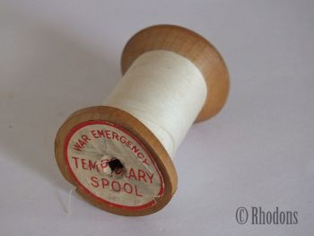War Emergency Temporary Cotton Spool, J&P Coats