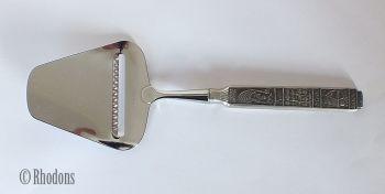 Norwegian Pewter Cheese Shaver Knife / Slicer, Konge-Tinn, King Olav. Circa 1970s / 1980s.