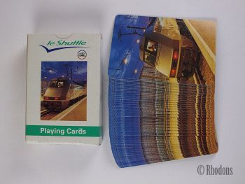 Vintage 'Le Shuttle' Euro Tunnel Playing Cards