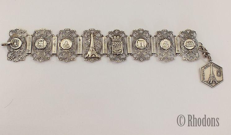 Vintage Paris Souvenir Bracelet, Art Nouveau Design