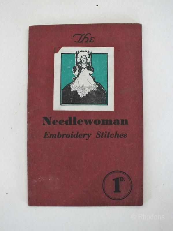 The Needlewoman Embroidery Stitches, 1930s Vintage Sewing Craft Booklet