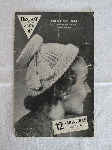 Bestway Knitwear Pattern #A2578 Polo Mode Hats 12 variations