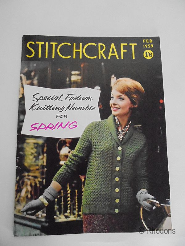 Vintage Stitchcraft Magazine, February 1959 Edition