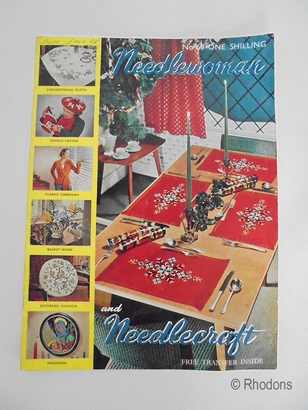 Needlewoman and Needlecraft Magazine No.68, 1956, With Poodles Transfer
