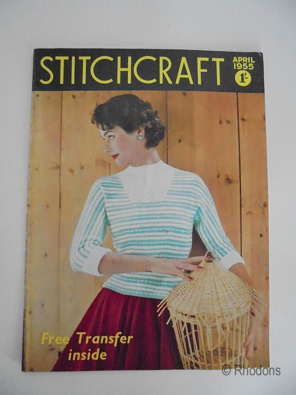 1950s Vintage Stitchcraft Magazine, Knitting, Hairpin Lace With Transfer, Apron