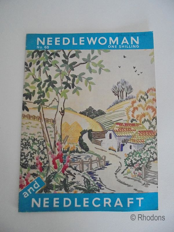 Needlewoman and Needlecraft Magazine With Transfer, No.65, 1956