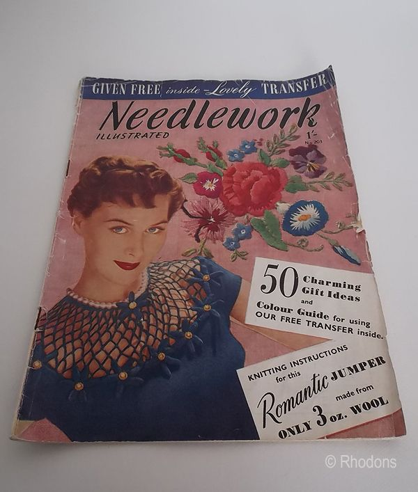Needlework Illustrated Magazine No.203, Late 1940s