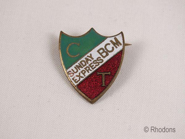 1930s Sunday Express Birthday Club Badge - Chok Tok Childrens Club