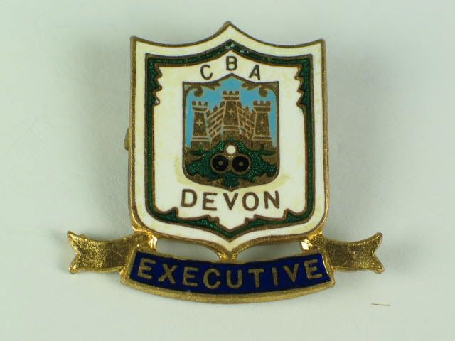 Devon County Bowling Association Executive Enamel Badge