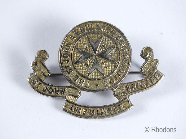 St John Ambulance Brigade Brooch