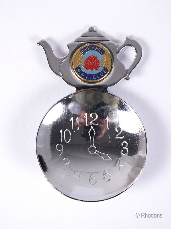 Australian Souvenir Tea Caddy Spoon, Rooty Hill RSL Club