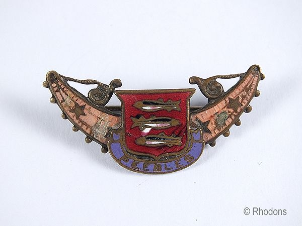 Arms of Peebles, Scottish Borders Enamel Badge Or Brooch