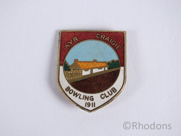 Ayr Craigie Bowling Club 1911 Badge
