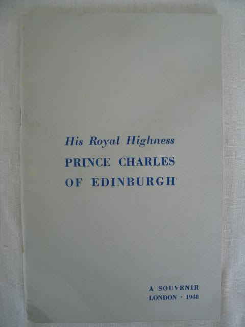 HRH Prince Charles of Edinburgh, 1948 Royal Birth Souvenir