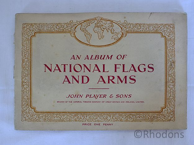 Album of National Flags And Arms, John Player & Sons Cigarette Cards, Complete Set, Circa 1930s