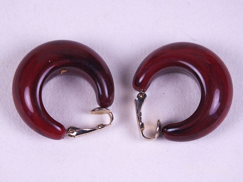 Sarah Coventry Red Clip on Earrings, Circa 1960s