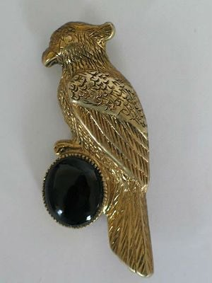 Art Deco Parrot Brooch, 1920s / 1930s