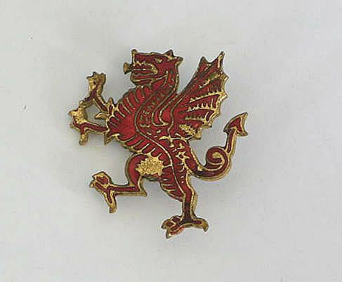 Scottish Red Griffin Brooch or Badge, Circa 1920s