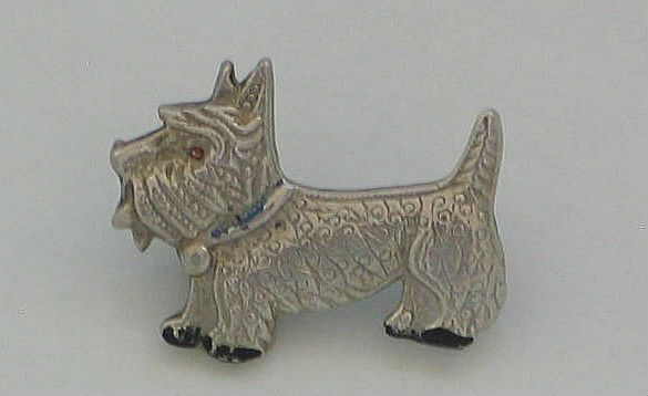 Scottie Dog Brooch. Circa 1950s