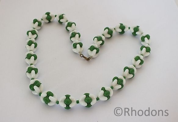 Glass Bead Necklace, Circa 1950s