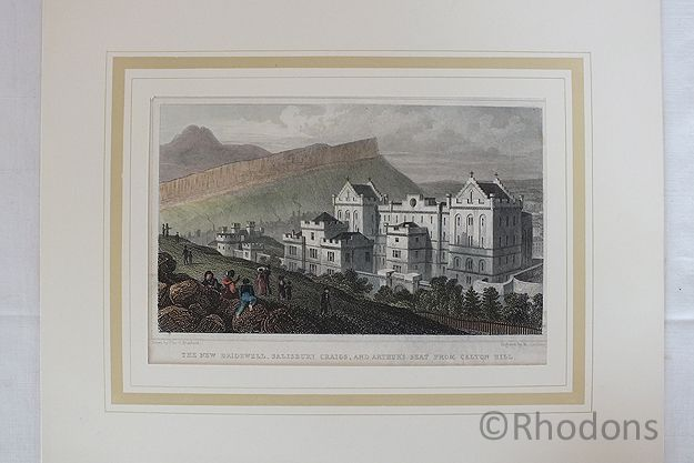 The New Bridewell, Edinburgh - Antique Print, W Tombleson After T H Shepherd
