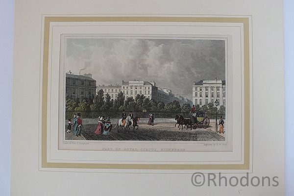 Part Of Royal Circus Edinburgh - Antique Print, Tho H Shepherd / H W Bond