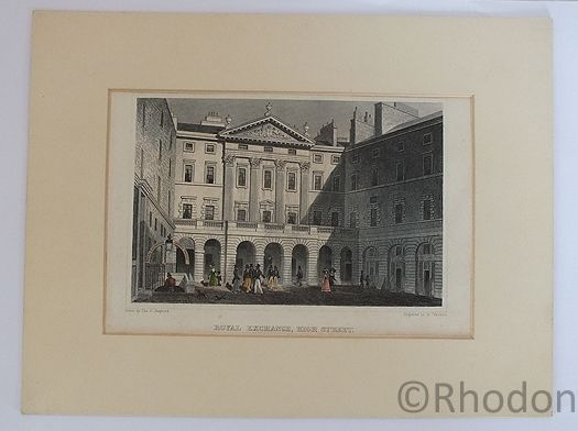 Royal Exchange High Street, Edinburgh, Antique Print, Tho H Shepherd / W Watkins