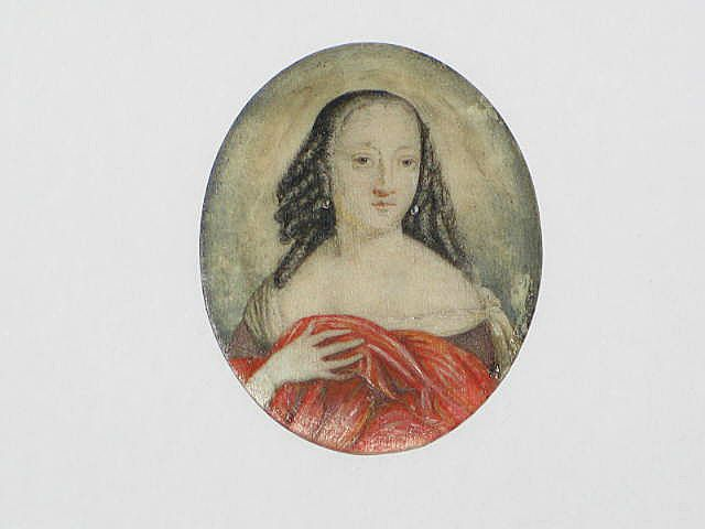 Early Miniature Portrait Painting Of A Lady, 17th / 18th Century