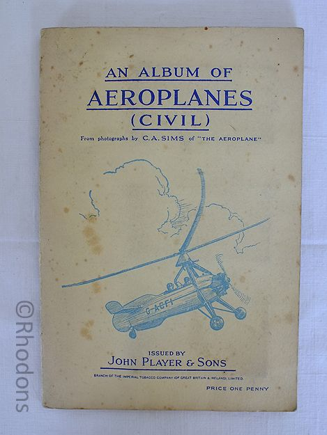 John Player & Sons Cigarettes Cards, An Album of Aeroplanes (Civil), Complete Set, Circa 1930s