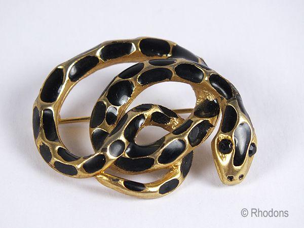 Snake Brooch, Python. Circa 1970s / 1980s