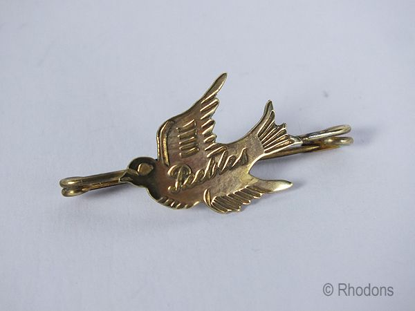 Bird Brooch Souvenir Of Peebles, Scotland