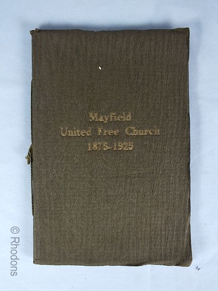 Mayfield United Free Church Edinburgh 1875-1925 Anniversary Commemorative Booklet