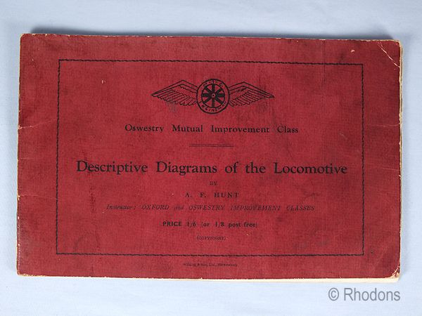 Descriptive Diagrams Of The Locomotive By A F Hunt, Oswestry Mutual Improvement Class