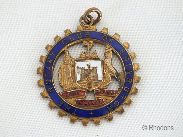 Rotary Club Of Edinburgh Fob Medal