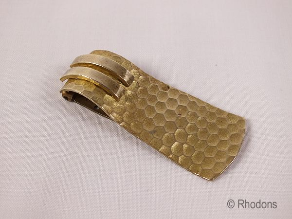 Vintage Gilt Metal Dress Clip, Circa 1940s