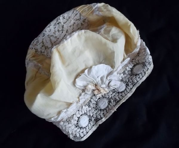 Silk & Lace Boudoir Cap