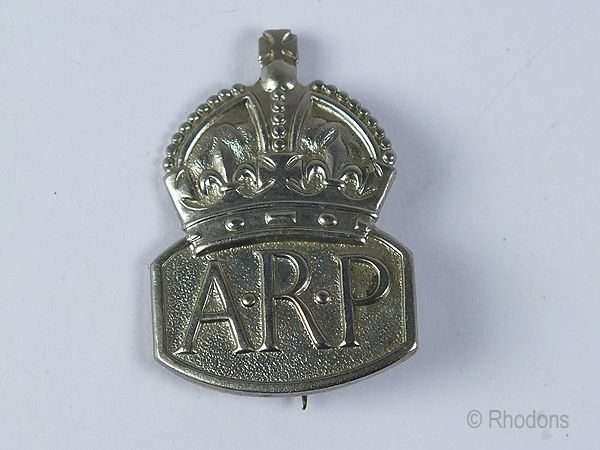 Ladies WW II Air Raid Precaution Warden Badge, A.R.P. Badge