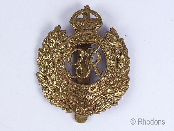 King George VI Royal Engineers Regimental Cap Badge