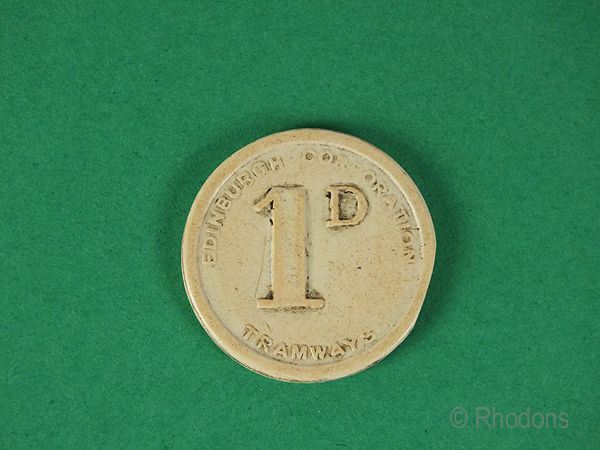 Edinburgh Corporation Tramways, Pre 1956 1d Token