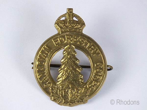 Canadian Forestry Corps Cap Badge, WW II