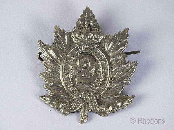 2nd Battalion Queens Own Rifles Of Canada Cap Badge