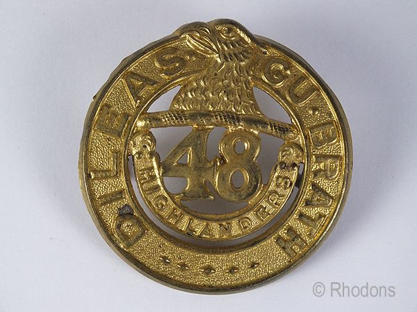 48th Highlanders Of Canada Regimental Cap Badge