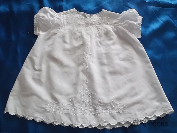 Baby Dress, Handmade Whitework Embroidery.