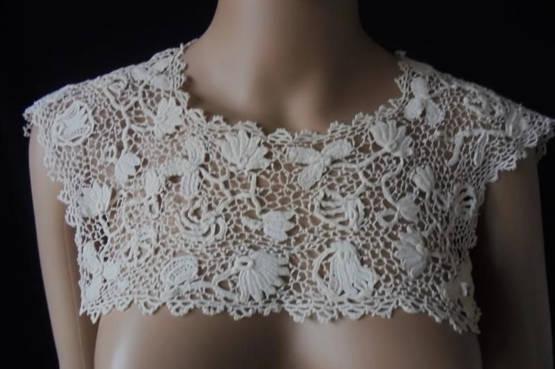 Antique Irish Crochet Lace Collar