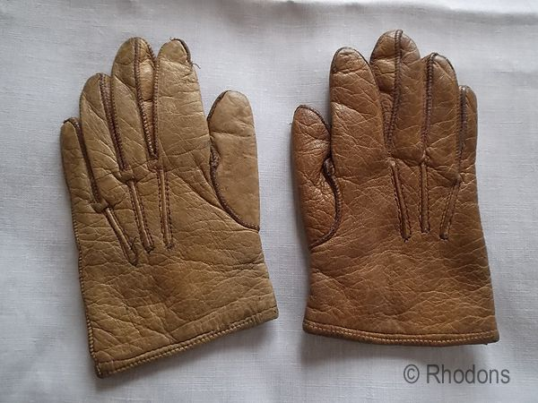 Childs Kid Leather Gloves, Early 1900s